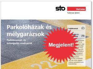 Megjelent a Sto új, parkolóházakról és mélygarázsokról szóló katalógusa!